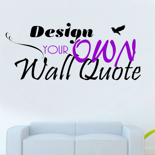 Personalised wall art design your own quote decal mural for Design your own mural