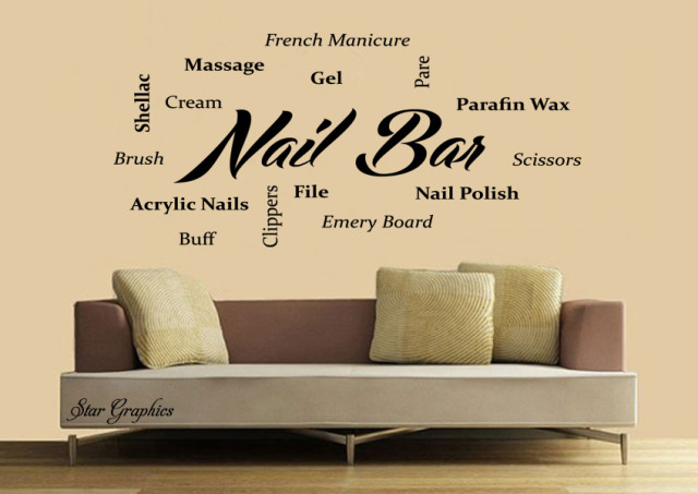 Nail Bar Nails & Beauty Salon Wall Art Vinyl Transfer Decal Mural Sticker