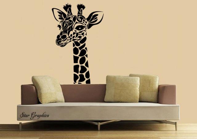 Tribal Giraffe Wall Art Removable Sticker Vinyl Decal Home Décor Decoration