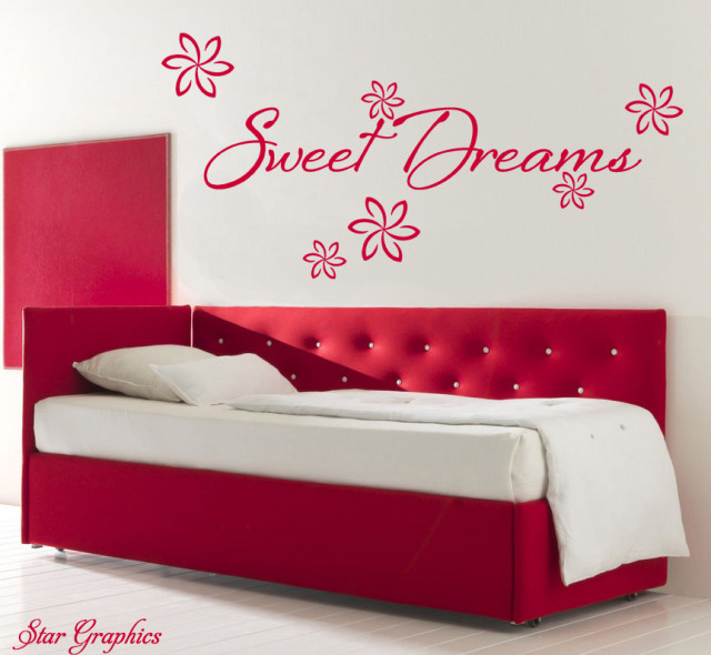 Sweet Dreams Quote Vinyl Removable Wall Art Sticker Home Decoration Gift DIY