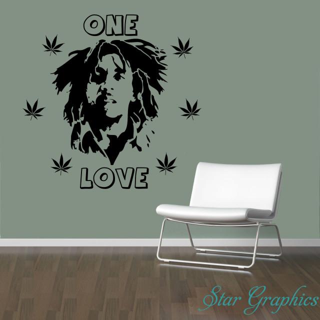 Bob Marley One Love Vinyl Removable Wall Art Sticker Decal Home Decor DIY