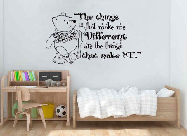 Winnie The Pooh Quote Wall Art Vinyl Sticker Decal Mural Gift Birthday Nursery Playroom Decoration DIY