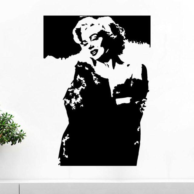 Marilyn Monroe Portret Bedroom Wall Art Quote Vinyl Decal Sticker Mural Decoration Wedding Birthday Anniversary Gift DIY