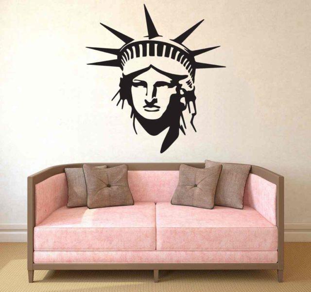 Statue Of Liberty New York Wall Art Vinyl Sticker Decal Mural Gift Birthday Living Room Bedroom Decoration Home Decor