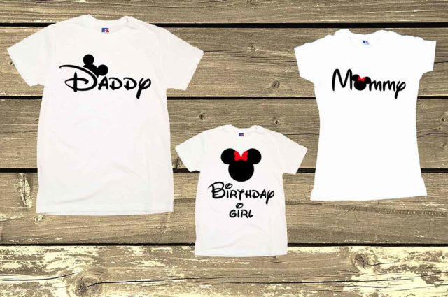 Family Birthday Mickey And Minnie Mouse shirts Birthday Girl Daddy Mommy & Me Graphic Tees Funny Family Clothing Gift Print Mickey And Minnie Disney Lovers